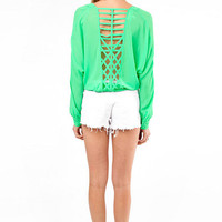 Caged In Blouse $39