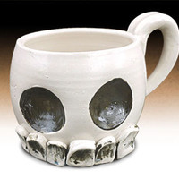 The Odd Luminary - Stoneware Skull Mug
