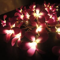 35 Flowers Purple Frangipani Fairy Lights String 3.5M PARTY,PATIO,WED​DING