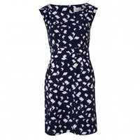 Navy Winterbird Dress by Poem | Oliver Bonas