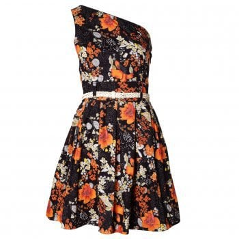 Trollied Dolly One Shoulder Floral Dress | Oliver Bonas