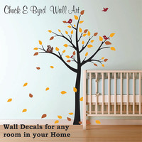 Free Shipping - Nursery Tree Wall Decals Kids Wall Decals removable decals