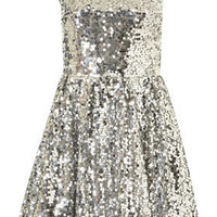 Allover Sequin Prom Dress By Dress Up Topshop** - Dresses  - Apparel  - Topshop USA