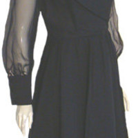 Black Coco California 50s 60s Vintage Dress