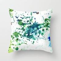 fish ink Throw Pillow by agnes Trachet | Society6