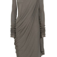 Rick Owens Lilies|Draped stretch-jersey dress|NET-A-PORTER.COM