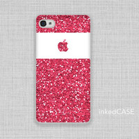 iPhone 5 Case, iPhone 4 Case, iPhone Case, iPhone Cover - 1239  Pink Glitter Print