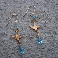 Sparrow Swarovski Earrings by lmouer on Etsy