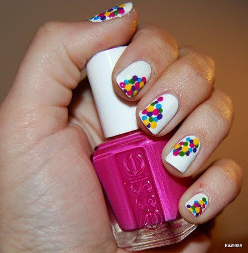 Hair/Makeup/Nails / It?s like Dippin? Dots on her nails. I love a...