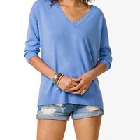 V-Neck Drop Sleeve Sweater
