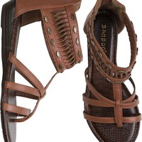 STUDDED ANKLE ZIP BACK SANDAL | Swell.com