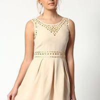 Kimberley Studded Pleated Waist Dress