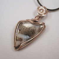 Wire Wrapped Pendant Nipomo Marcasite Agate by UptightWanda