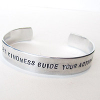 Handstamped Aluminum Bracelet  Inspirational by WyomingCreative