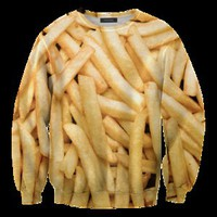 Mr. Gugu &amp; Miss Go  Fries Sweater