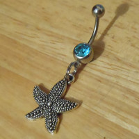 Belly Button Ring - Body Jewelry - Starfish Belly Button Ring