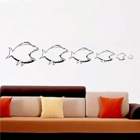 Free Shipping - It's a fish eat fish World - Wall Decal Art cute wall decor