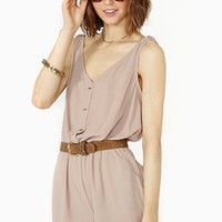 Odette Romper - Nude