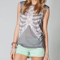 WORKSHOP Ribcage Womens Muscle Tee 215147110 | Graphic Tees & Tanks | Tillys.com