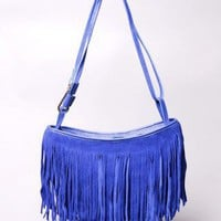 Suede Fringe Bag by AKIRA | Leather Handbag | shopAKIRA.com