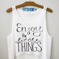 Enjoy the little things crop top | fresh-tops.com