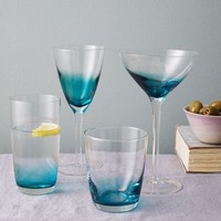 Ombre Colored Glassware
