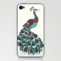 Technicolor Peacock - Marker Art Phone Skin by Romi Vega | Society6