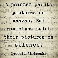 Music Quote Musical Notes Vintage Feel Leopold Stokowski Sepia Natural For the Musician , 8 x 10 Word Art Print