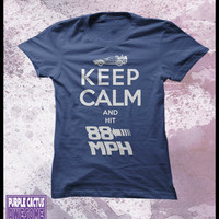 Back to the future womens T shirt, - Keep calm and hit 88 mph