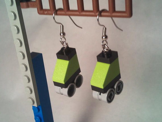 Lego Roller Skate Earrings