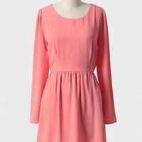chasse cutout dress in coral at ShopRuche.com