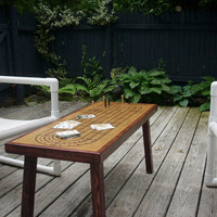 Coffee Table Cribbage Board  with  Contrast Border by TheRightJack