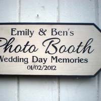 Wedding Photo Booth Personalized Arrow Sign
