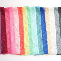"Adult Lace Headbands Elastic Lace Headband ""The Roxanne Lace"" Hand Dyed 1.8 inch wide Stretch Lace - 16 colors available"