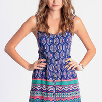 Illusive Dream Printed Romper - $14.99 : ThreadSence, Women&#x27;s Indie &amp; Bohemian Clothing, Dresses, &amp; Accessories