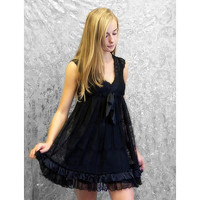gabriella black lace dress by rise boutique | notonthehighstreet.com