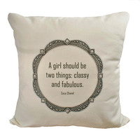 Coco Quote - Hemp and Organic Cotton Cushion Cover