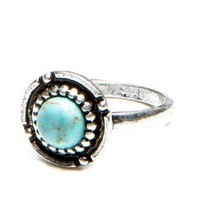 Circular Turquoise Stone Ring