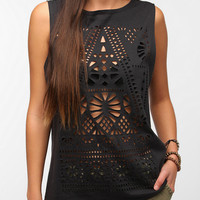 Urban Outfitters - Title Unknown Laser Cut Muscle Tee