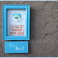 Its a Boy OR Its a Girl Emergency Kit Pacifier Boys by ClosetCat