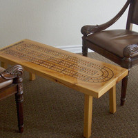 Game Room Cribbage Board Table  Handcrafted  by TheRightJack
