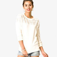 Lace Yoke Pullover