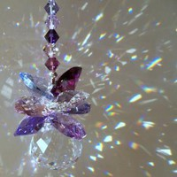 Sun Catcher PurpleCrystal Cluster by DancingRainbows on Zibbet