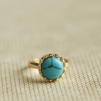 turquoise simplicity ring at ShopRuche.com