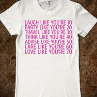 Laugh Party Travel Think Advise Care Love