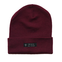 KULT Clothing  BURGUNDY BEANIE
