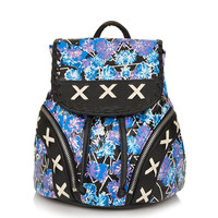 Floral Rave Stitch Backpack - Bags &amp; Wallets - Accessories - Topshop USA