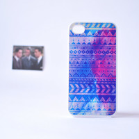 iPhone 4 Case - Blue Aztec iPhone Case - Geometric iPhone Case - Aztec Pattern iPhone 4 Case - Accessories for iPhone
