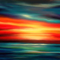 Giclee Canvas Print 20 x 30 Edge of Sunset by druidwolfart on Etsy