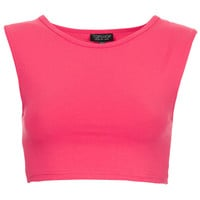 Stretch Sleeveless Crop Top - Topshop